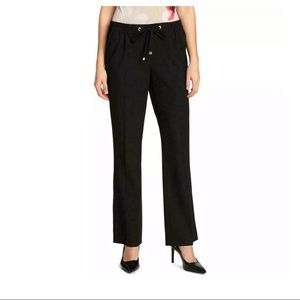 New Calvin Klein Elastic Waist Black Dress Pants
